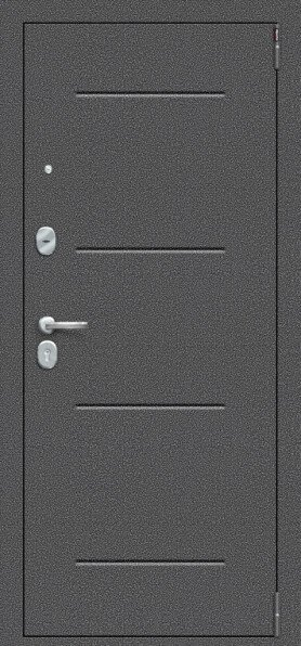Porta S 104.П61 Антик Серебро/Cappuccino Veralinga - Серия Porta S-2 - Двери входные
